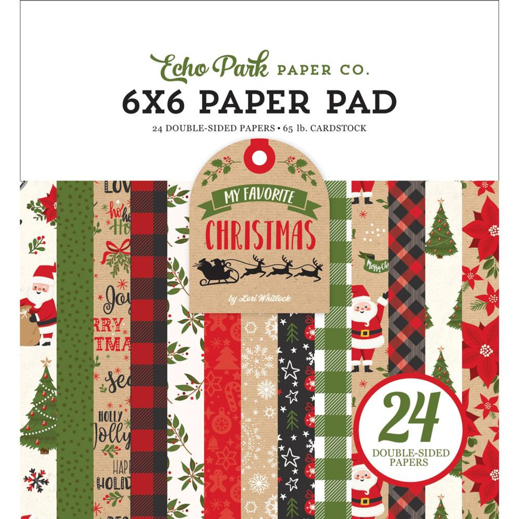 Echo Park - Double Sided Cardstock Paper Pad 6x6 - My Favorite Christmas (MF190023)