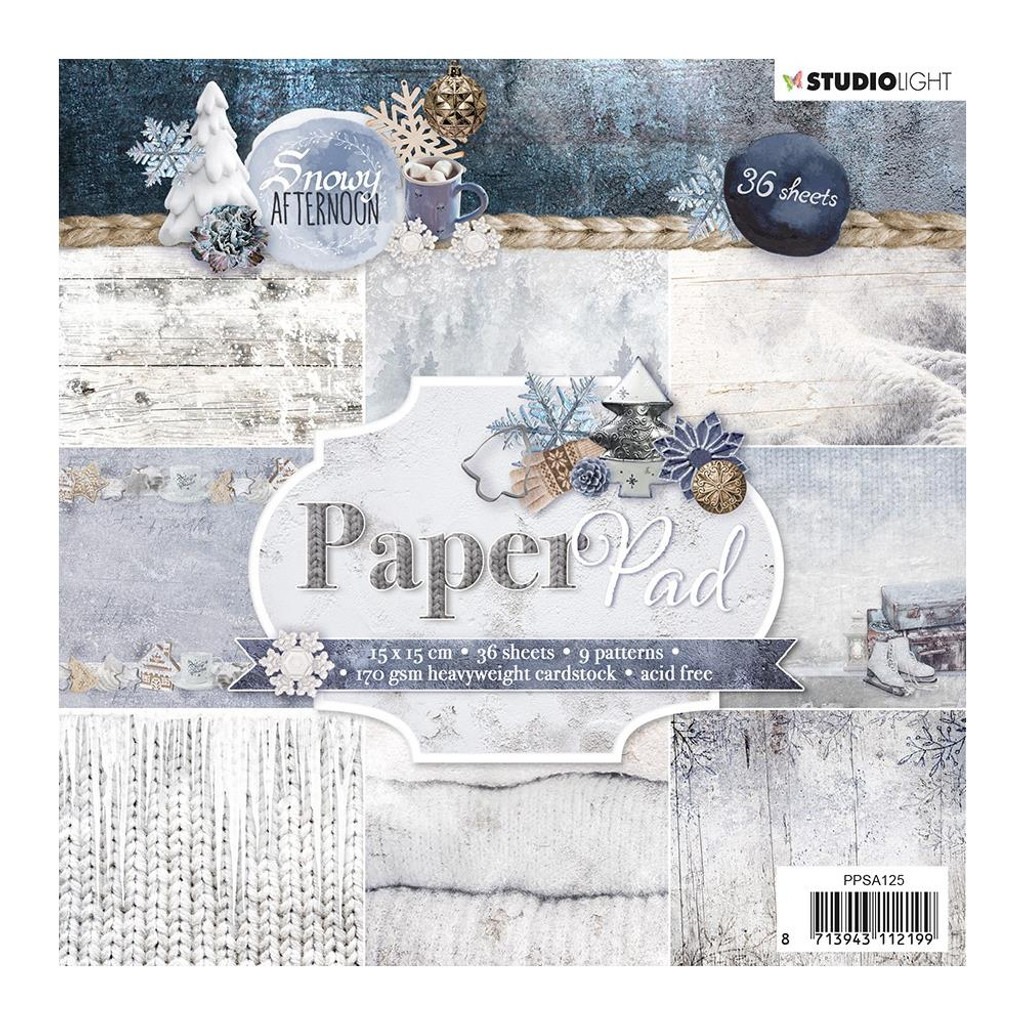 Studio Light - 6x6 Paper Pad 36/Pkg - Snowy Afternoon - Collection 1 (PPSA125)