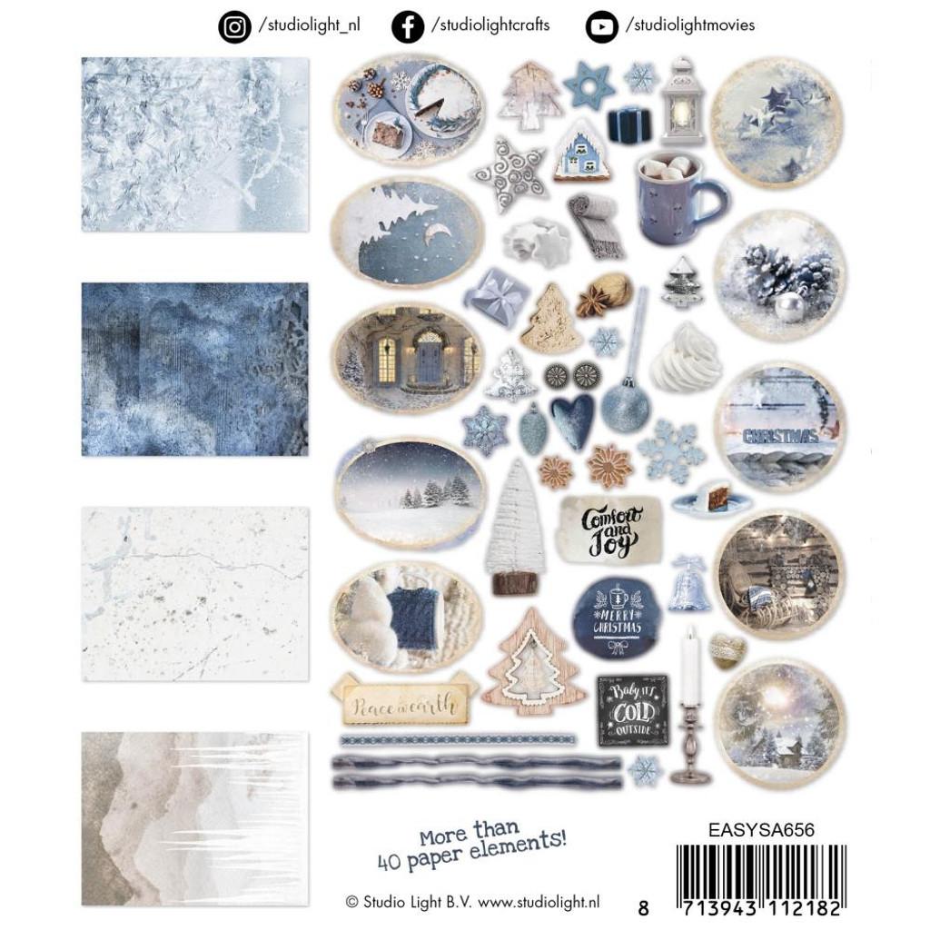 Studio Light - Ephemera Elements Set - Snowy Afternoon - Blue (EASY656)