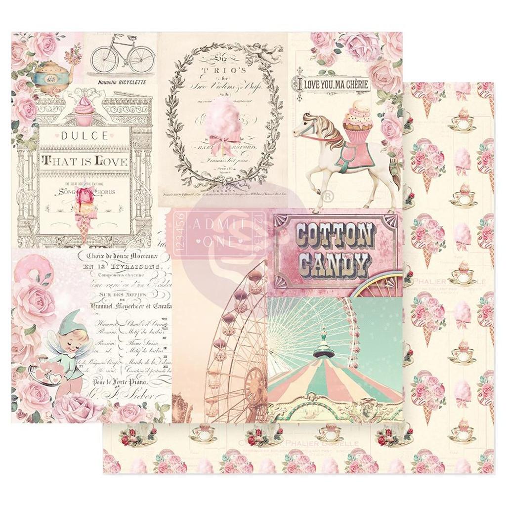 Prima Frank Garcia - Double sided 12x12 Paper w/Foil Accents - Dulce - Dulce Sueno (DULCE12 95584)