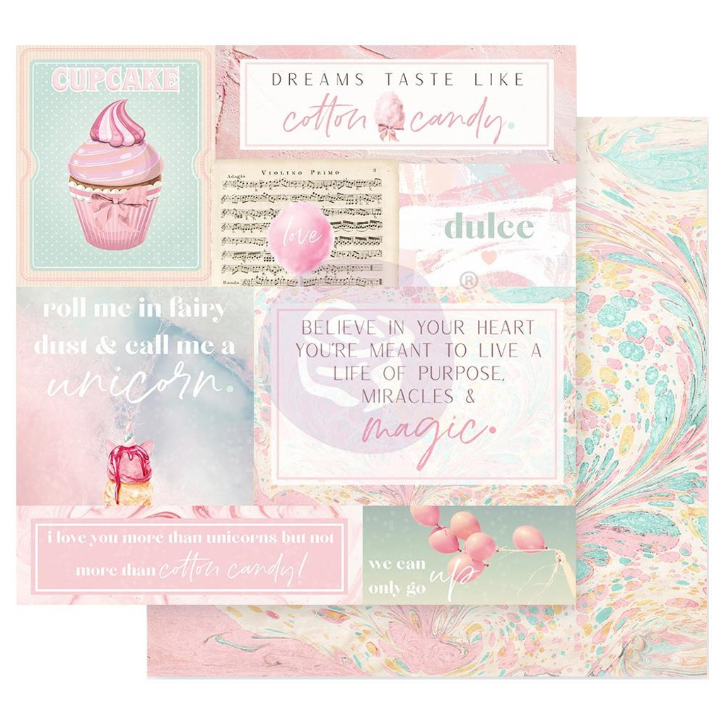 Frank Garcia - Double sided 12x12 Paper w/Foil Accents - Dulce - Fairy Dust