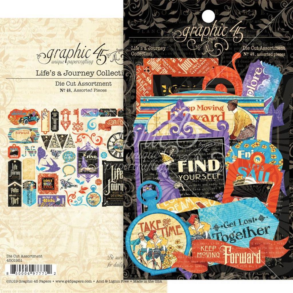 Graphic 45 - Cardstock Die Cut Assortment- Life's Journey (G4501951)