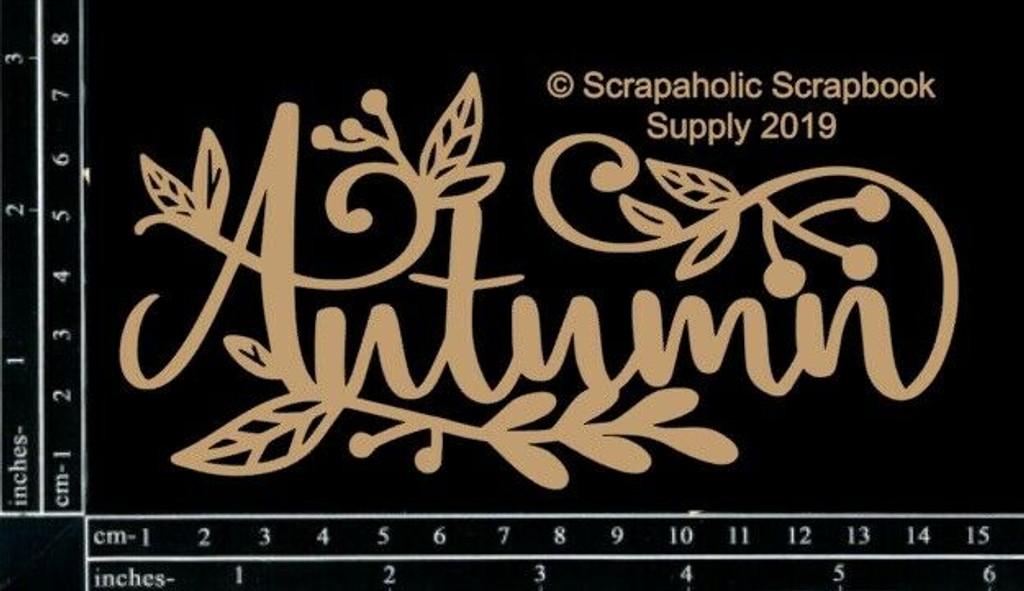 Scrapaholics - Laser Cut Chipboard - Autumn (S52484)