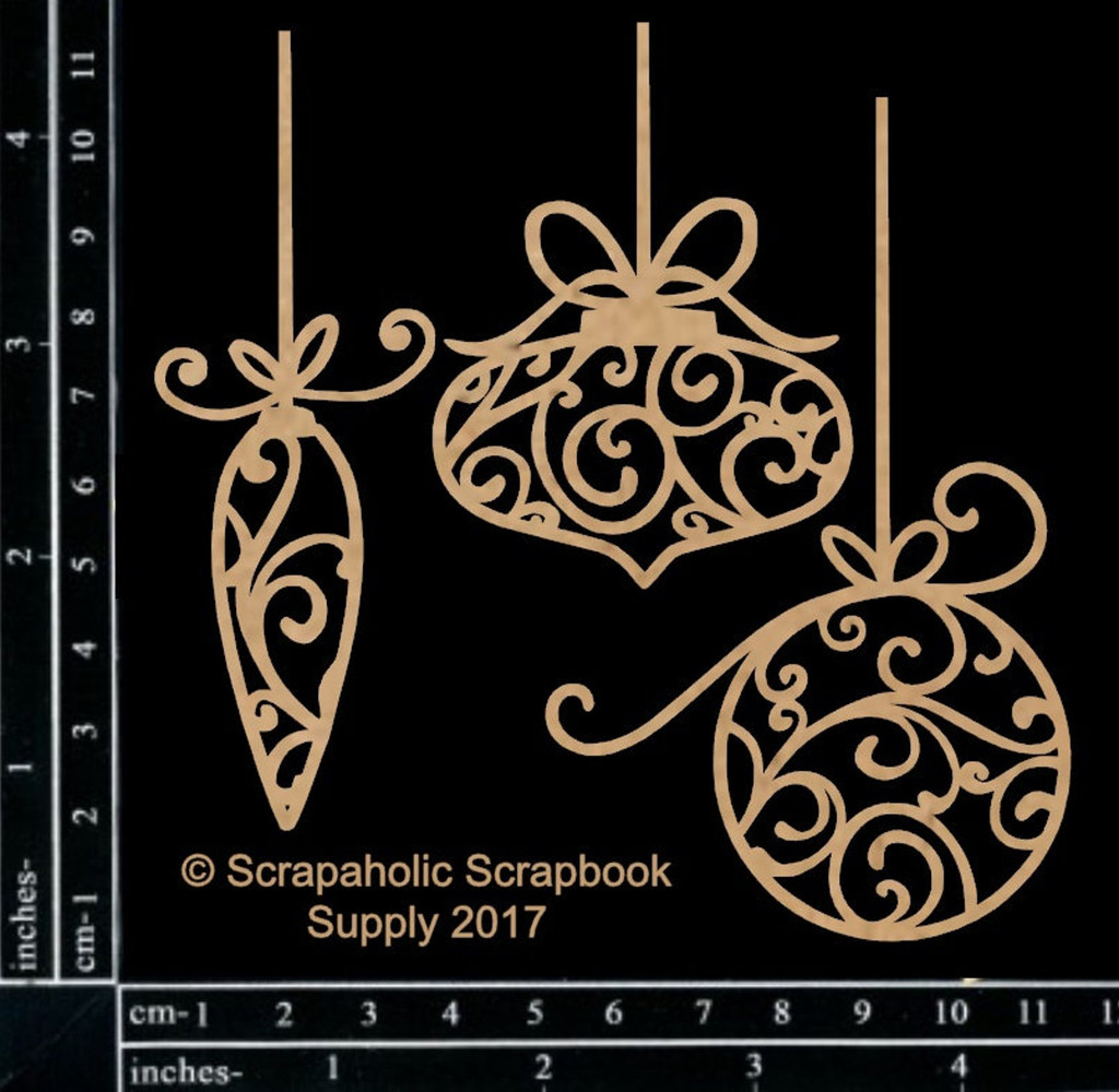 Scrapaholics - Laser Cut Chipboard - Flourish Dangle Ornaments (S49255)