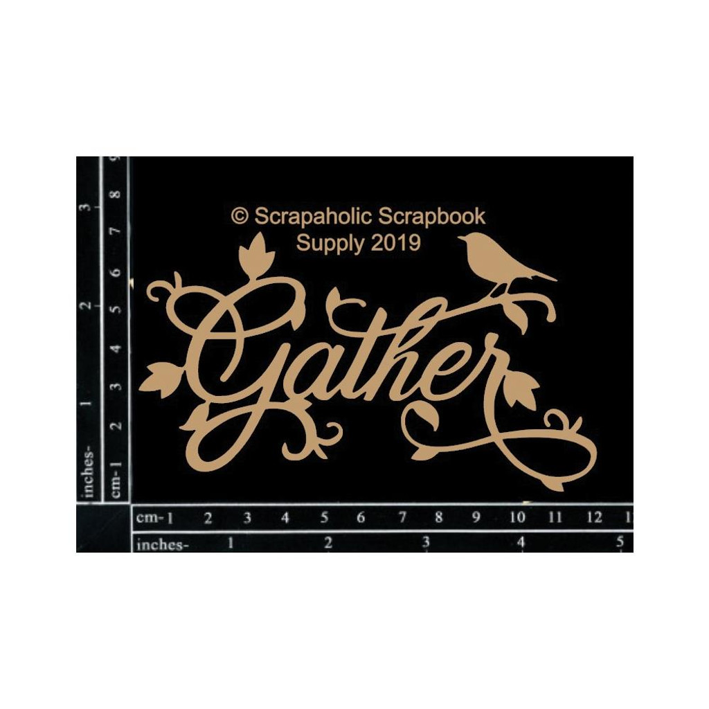Scrapaholics - Laser Cut Chipboard - Gather (S52514)