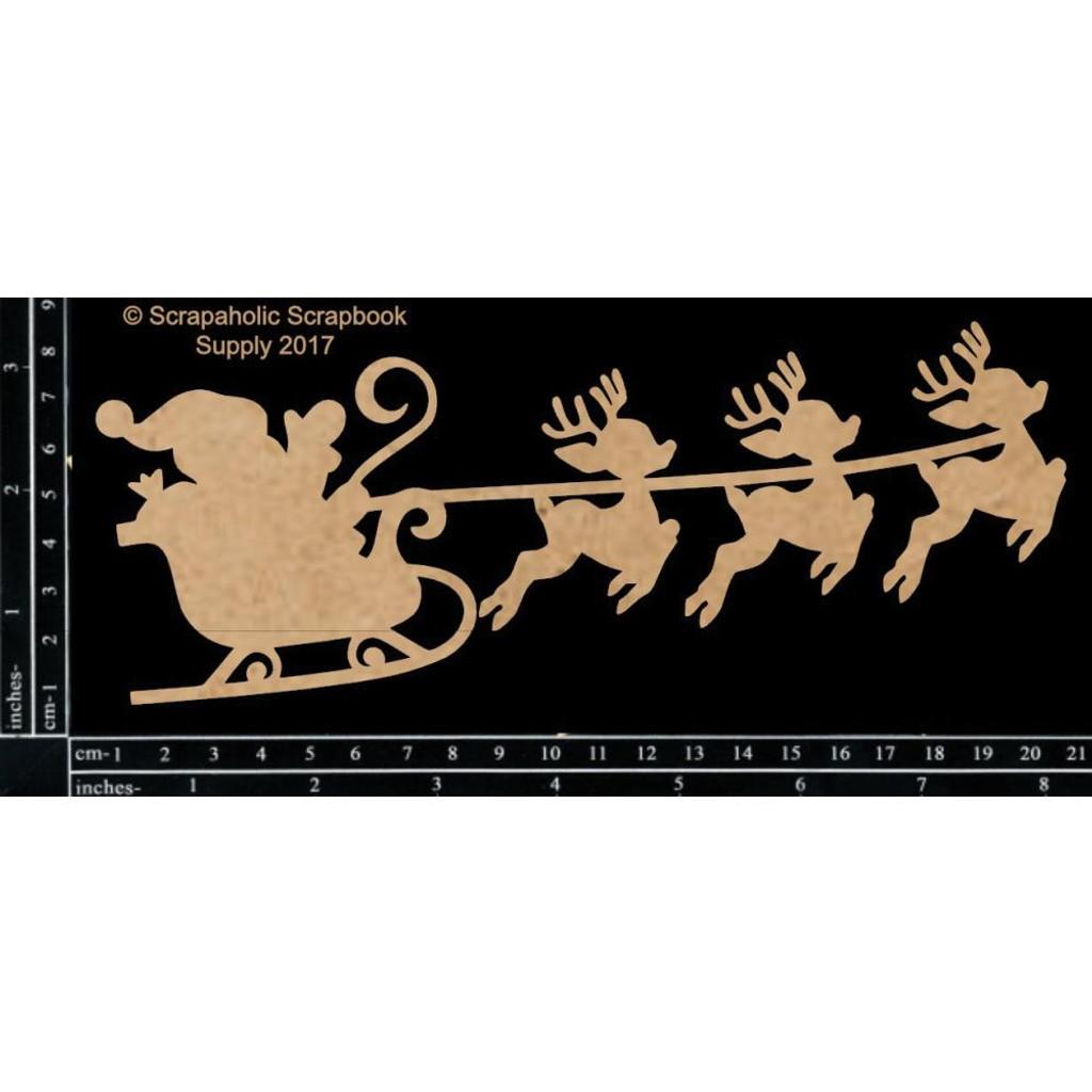 Scrapaholics - Laser Cut Chipboard - Santa Sleigh (S50749)