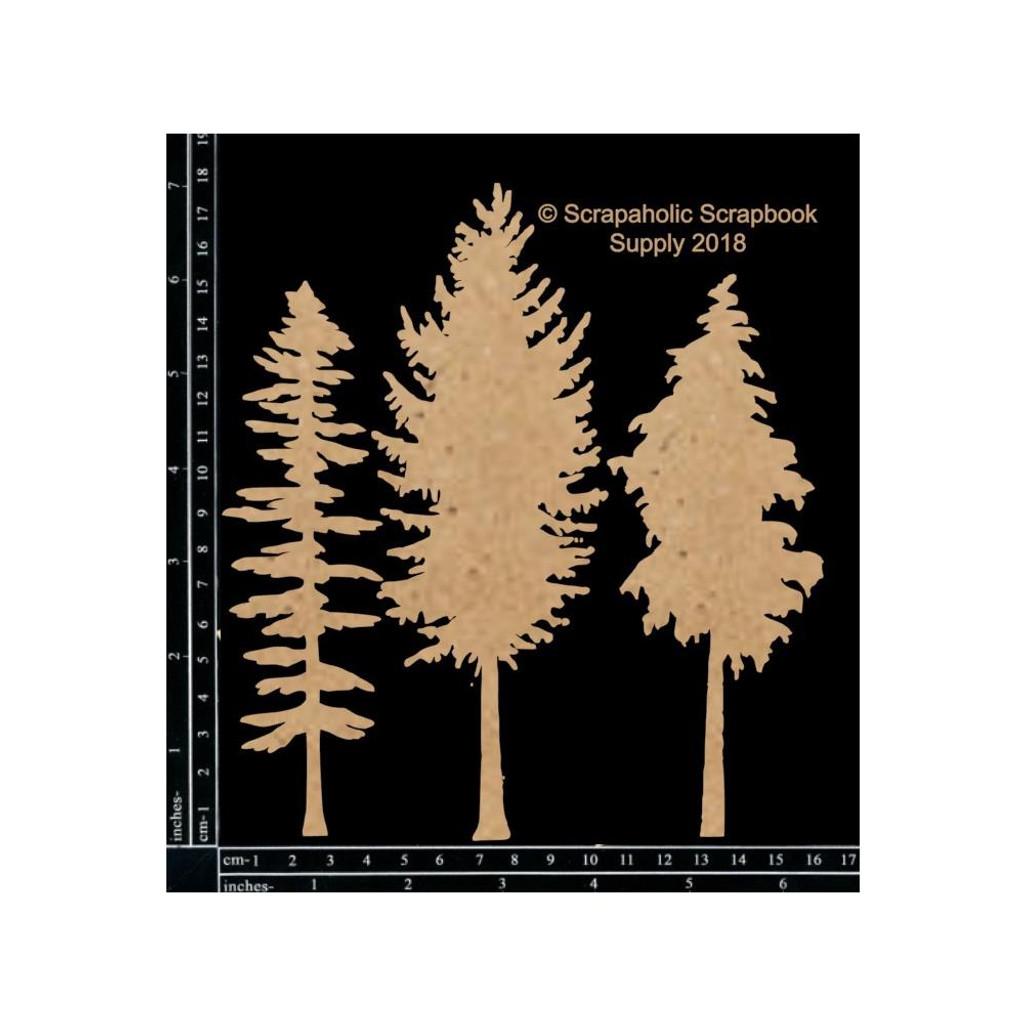 Scrapaholics - Laser Cut Chipboard - Snowy Trees (S50497)