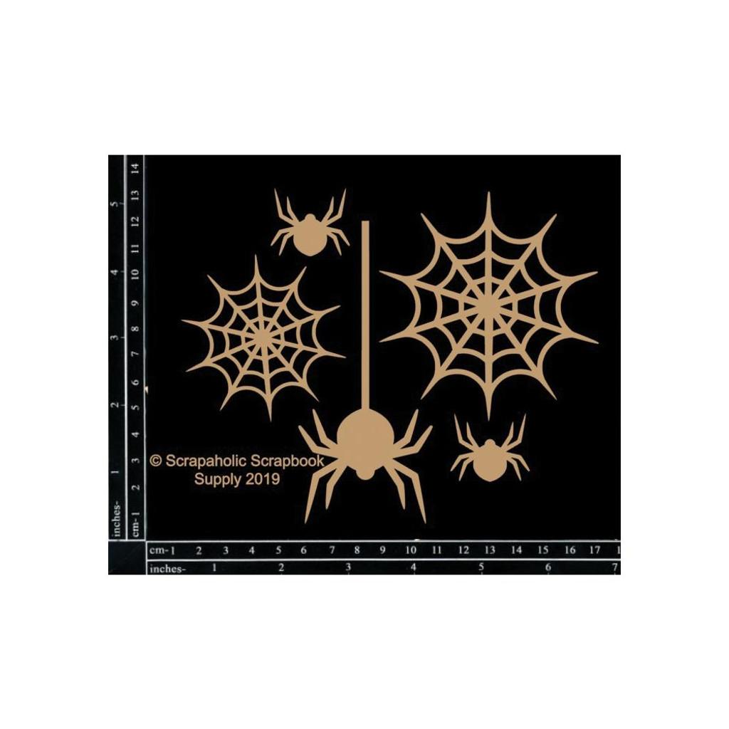 Scrapaholics - Laser Cut Chipboard - Spider Webs (S52538)