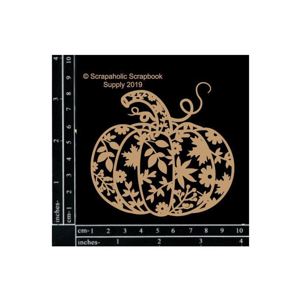 Scrapaholics - Laser Cut Chipboard - Decorative Pumpkin (S52491)