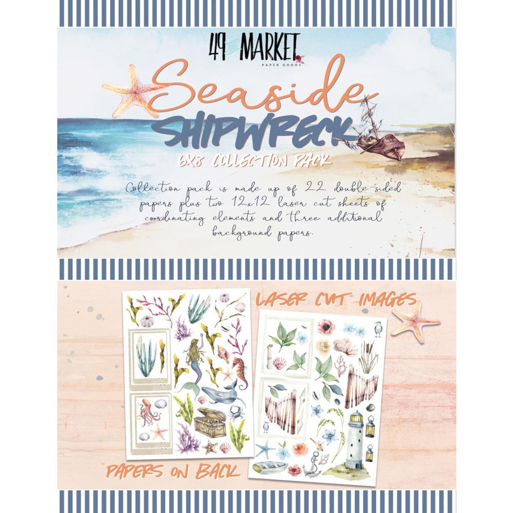 49 and Market - Paper Pack 6x8 - Shipwreck & Seaside (SS31818)