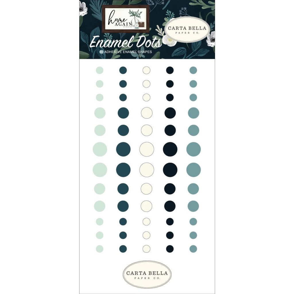 Carta Bella - Enamel Dots 60Pkg - Home Again (HO109028)