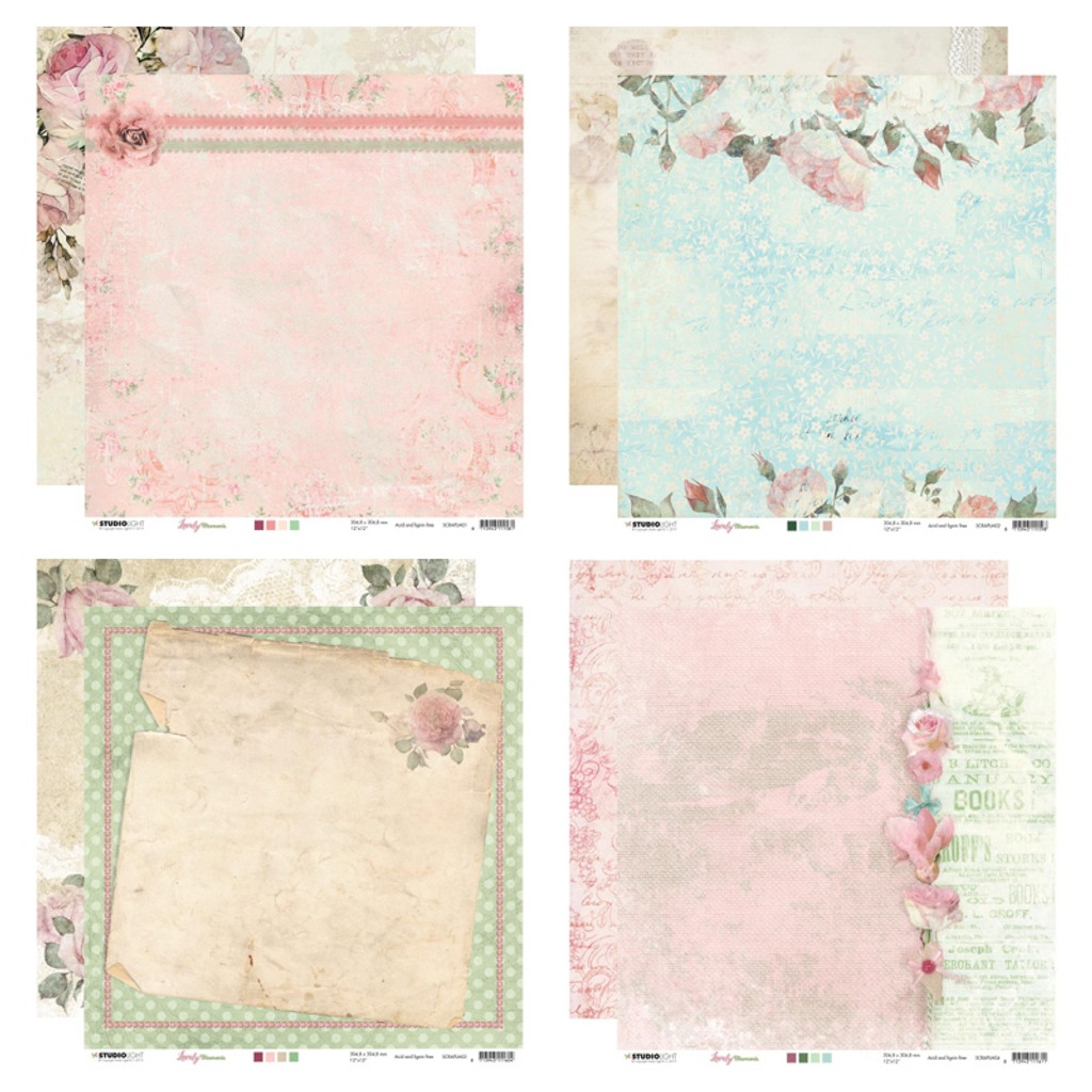 Studio Light - Paper Collection 12x12 - Lovely Moments (LM-4/Pkg)