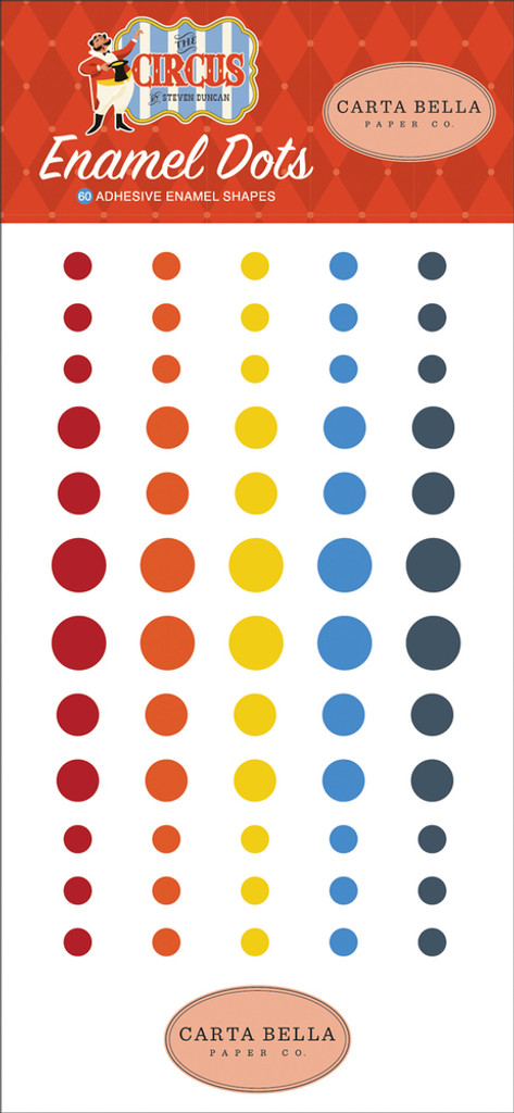 Carta Bella - Decorative Enamel Dots - Circus (CBCI93028)