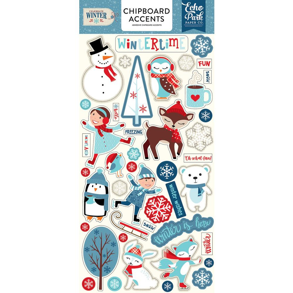 "Echo Park - Chipboard 6""X13"" - Accents - Celebrate Winter (CW162021)"