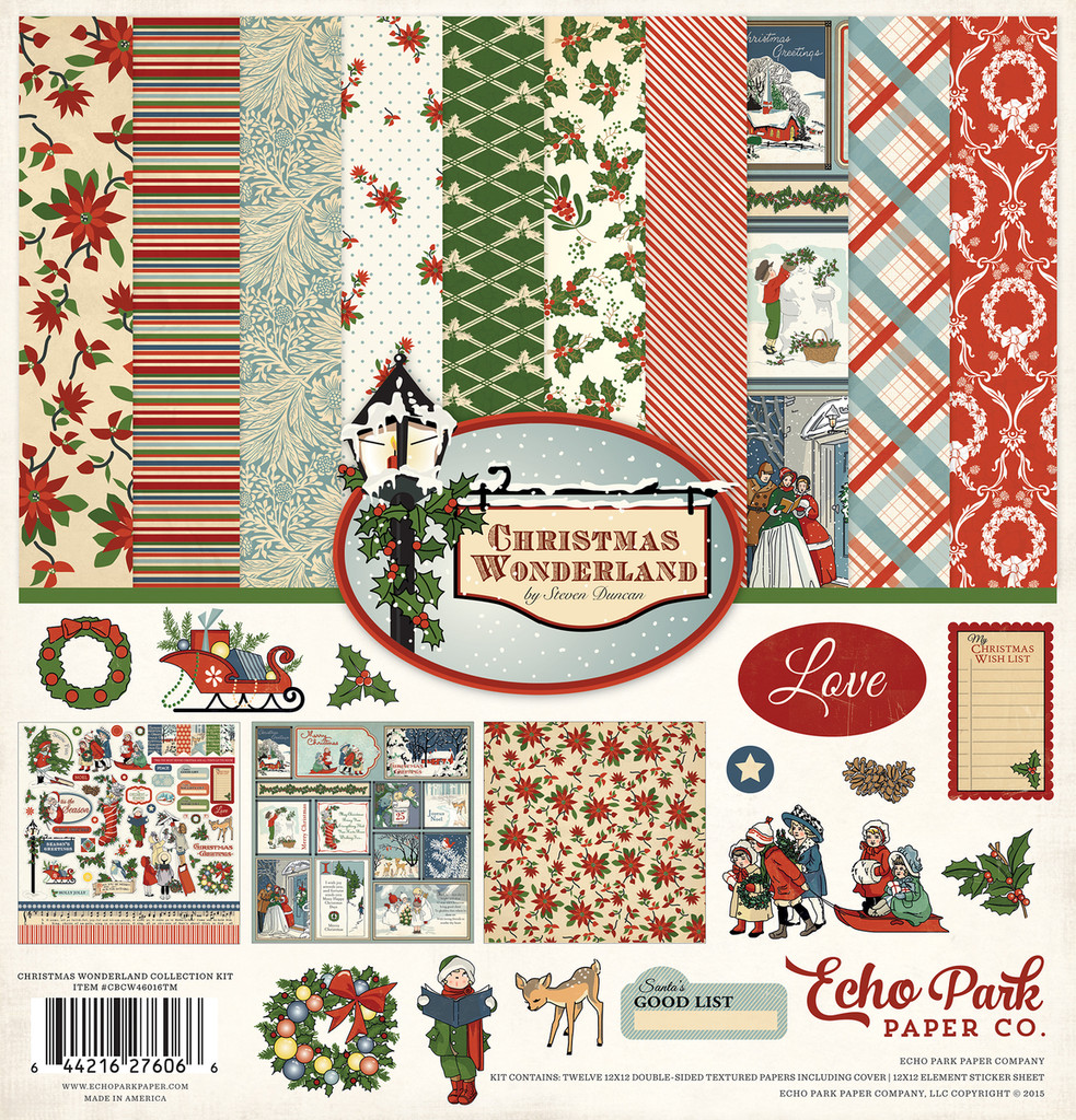 Echo Park - Double Sided Cardstock Collection Pack 12x12 - Christmas Wonderland (CBCW46016TM)