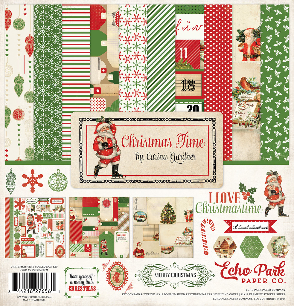 Echo Park - Double Sided Cardstock Collection Pack 12x12 - Christmas Time (CBCT33016TM)