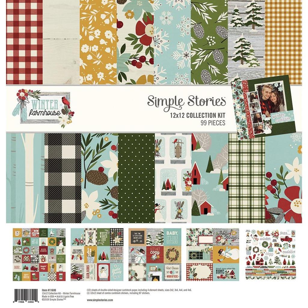 Simple Stories - Collection Kit - 12 X 12 - Winter Farmhouse (WTR11600)