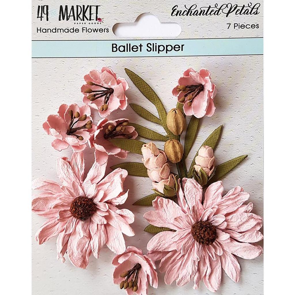 49 and Market - Flowers Enchanted Petals 7/Pkg - Ballet Slipper (49EP 89074)