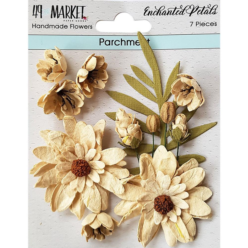 49 and Market - Flowers Enchanted Petals 7/Pkg - Parchment (49EP 89012)