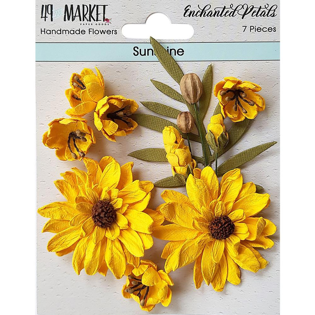 49 and Market - Flowers Enchanted Petals 7/Pkg - Sunshine (49EP 89029)