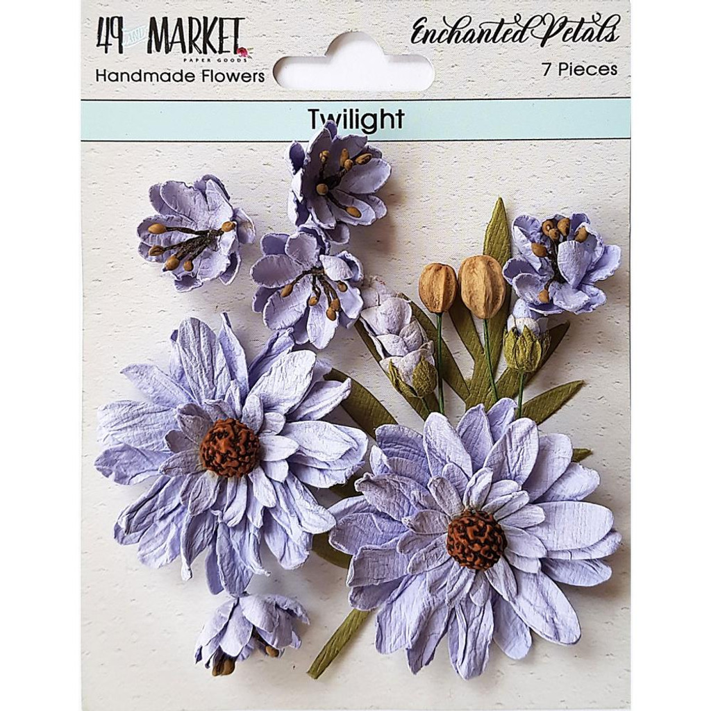 49 and Market - Flowers Enchanted Petals 7/Pkg - Twilight (49EP 89067)