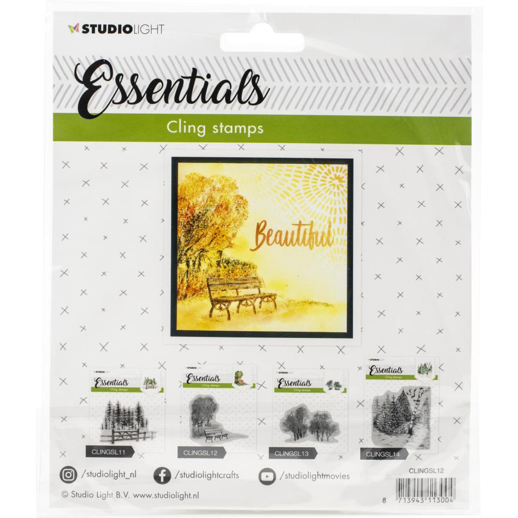 Light - Essentials Stamp - NR. 12 - Tree Line with Bench (LINGSL12)