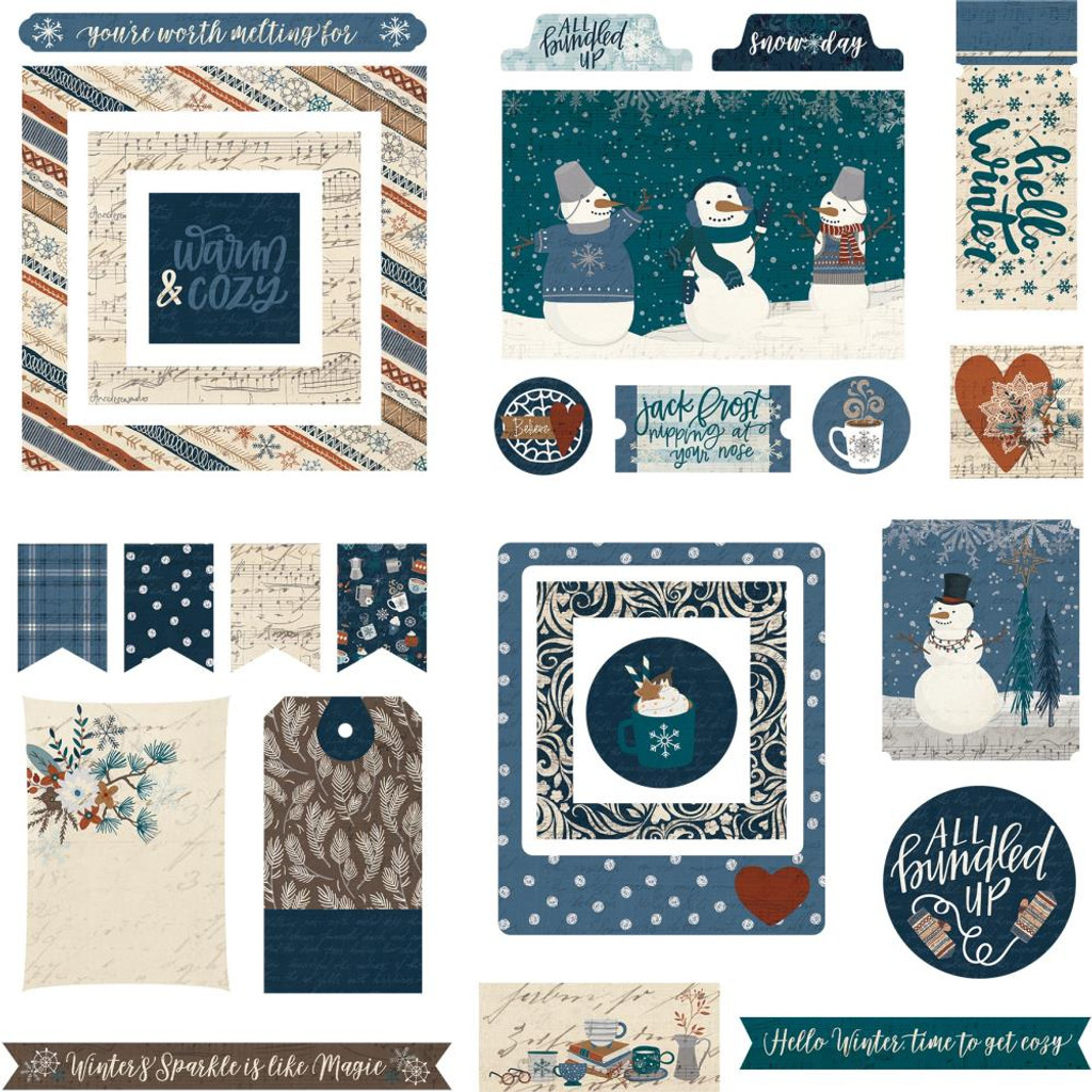 Photo Play - Ephemera Cardstock Die-Cuts - For The Love Of Winter (FLW9624)