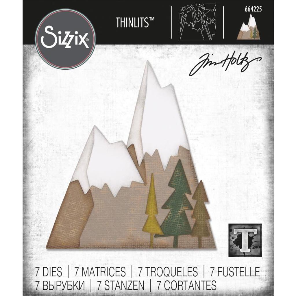 Sizzix - Tim Holtz - Framelits Dies 7/Pkg - Alpine (664225)