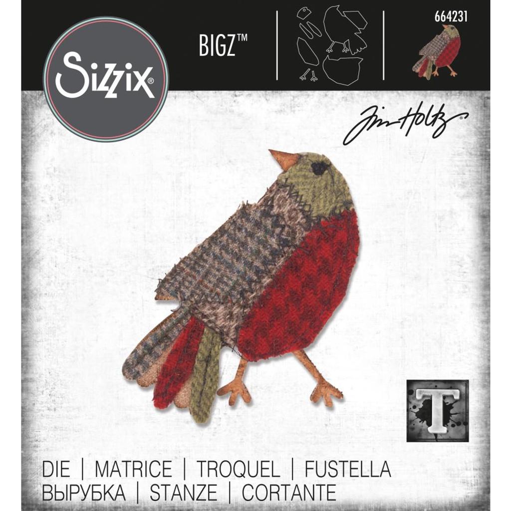 Sizzix - Tim Holtz - Bigz Die - Patchwork Bird (664231)