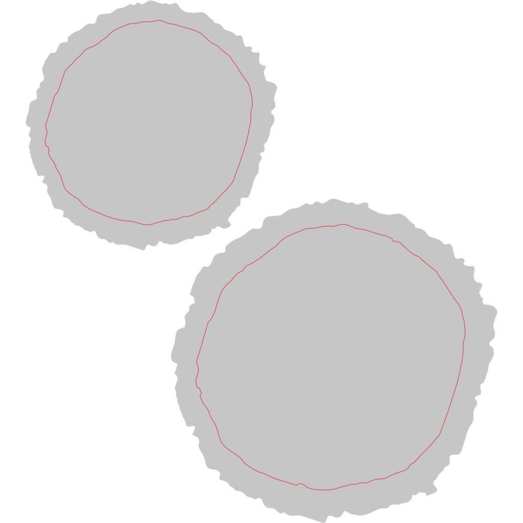 Sizzix - Tim Holtz - Bigz Dies - Mini Tree Rings W/Texture Fades (664232)