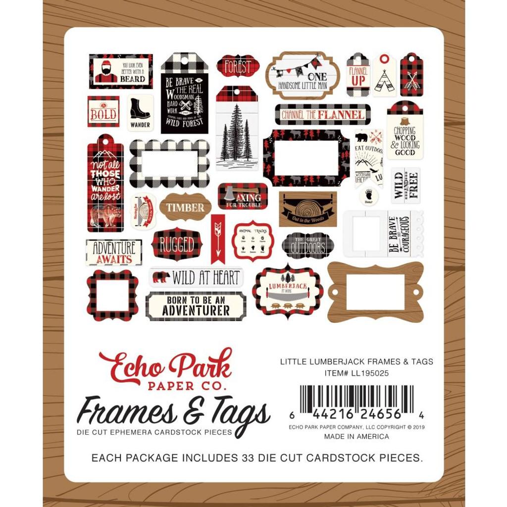 Echo Park - Frames & Tags Ephemera 33/Pkg- Little Lumberjack (LL195025)