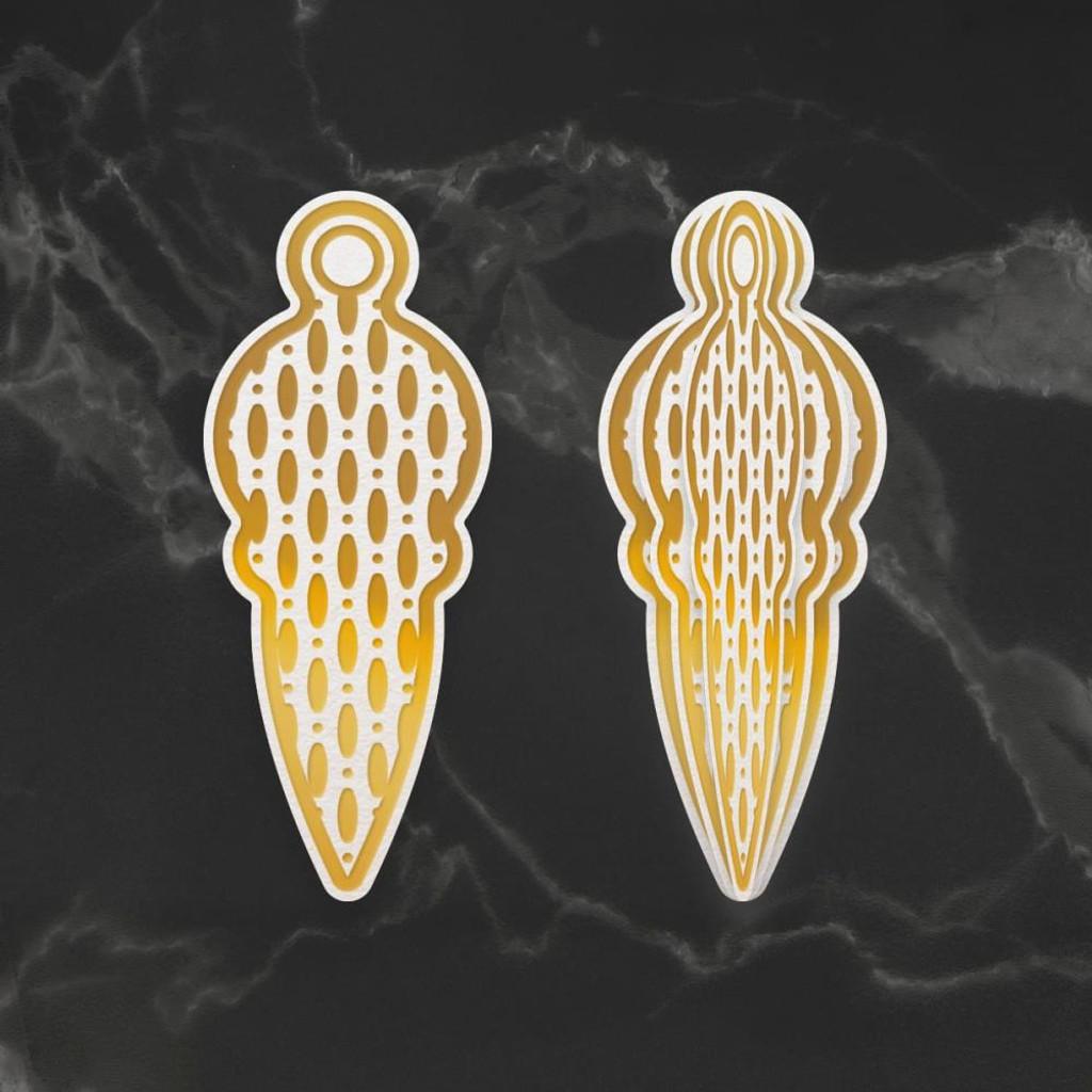 Couture Creations - Dimensional Decorations Cut, Foil & Emboss Dies - Raindrop Bauble (CO727010)