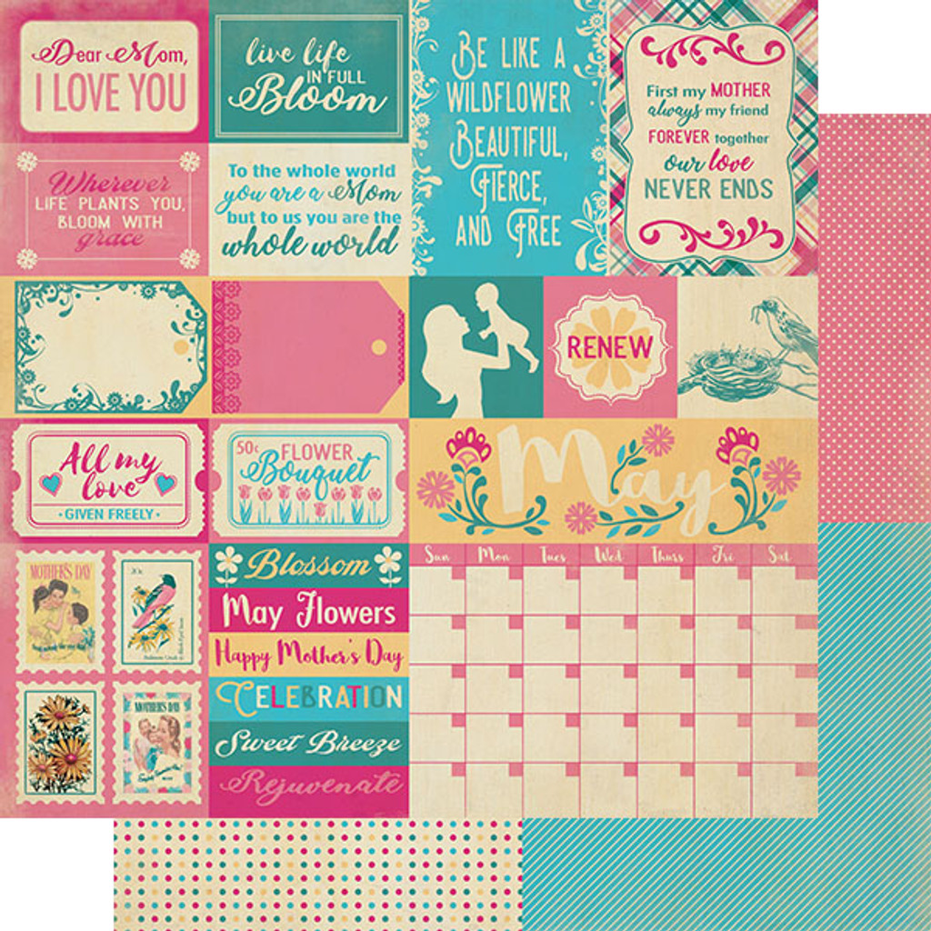 Copy of Authentique - Calendar Collection 12x12 3/Pkg - May (CAL-053)