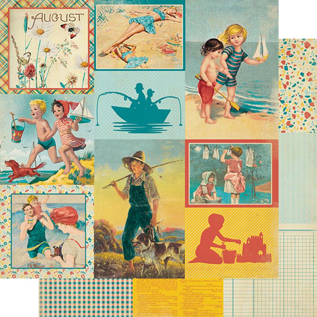 Authentique - Calendar Collection 12x12 3/Pkg - August (CAL-056)