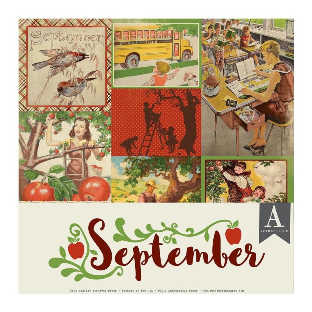 Authentique - Calendar Collection 12x12 3/Pkg -September (CAL-057)