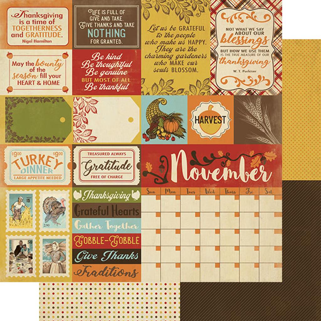 Authentique - Calendar Collection 12x12 3/Pkg -November (CAL-059)
