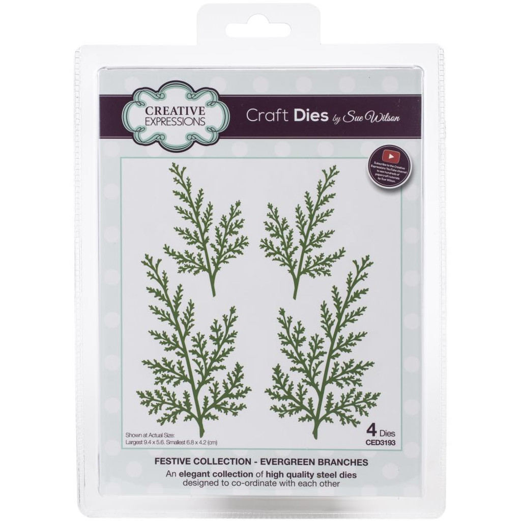 Creative Expressions - Sue Wilson Festive Craft Dies - Evergreen Branches (CED3193)