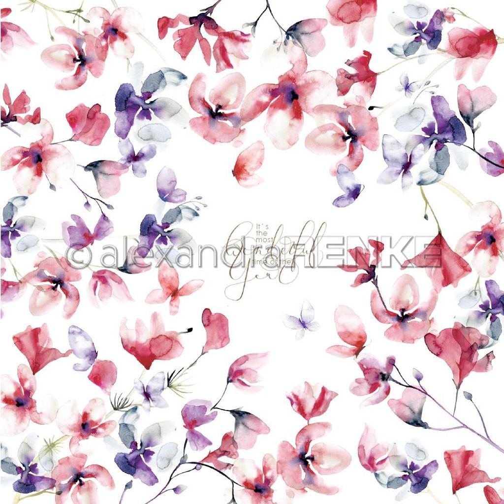 Alexandra Renke - Christmas Floral- 12x12 Cardstock - International Vetches (101467X)