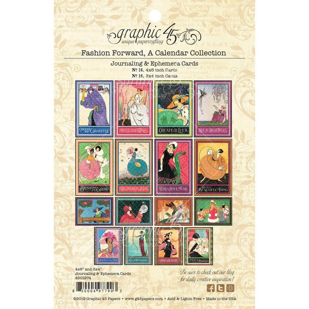 Graphic 45 - Ephemera Cards - Fashion Forward (G4501974)