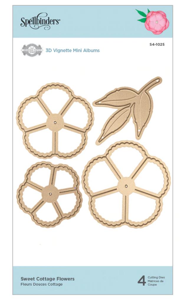 Spellbinders Shapeabilities Dies By Becca Feeken - Sweet Cottage Flowers (S41025)
