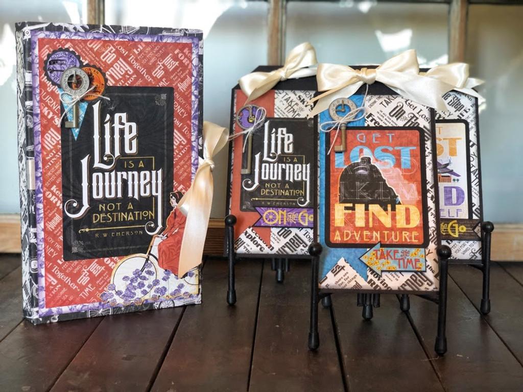 Club G45 Vol 11 November 2019 - Life's A Journey - Wrap Folio and Tag Trio (Club G45 Vo11 2019)