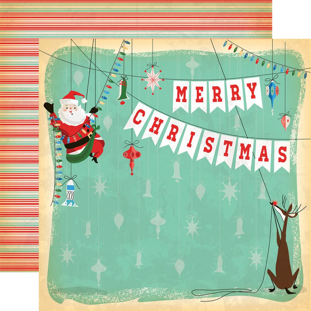 Carta Bella - A Very Merry Christmas 12x12 Cardstock - Merry Christmas (CBVMC72003)