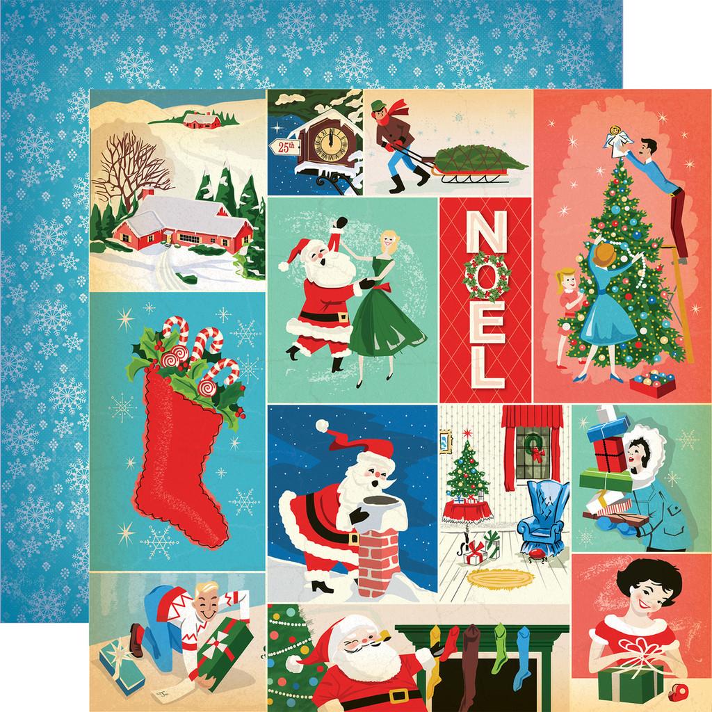 Carta Bella - A Very Merry Christmas 12x12 Cardstock - Christmas Festivities Journaling Cards (CBVMC72006)