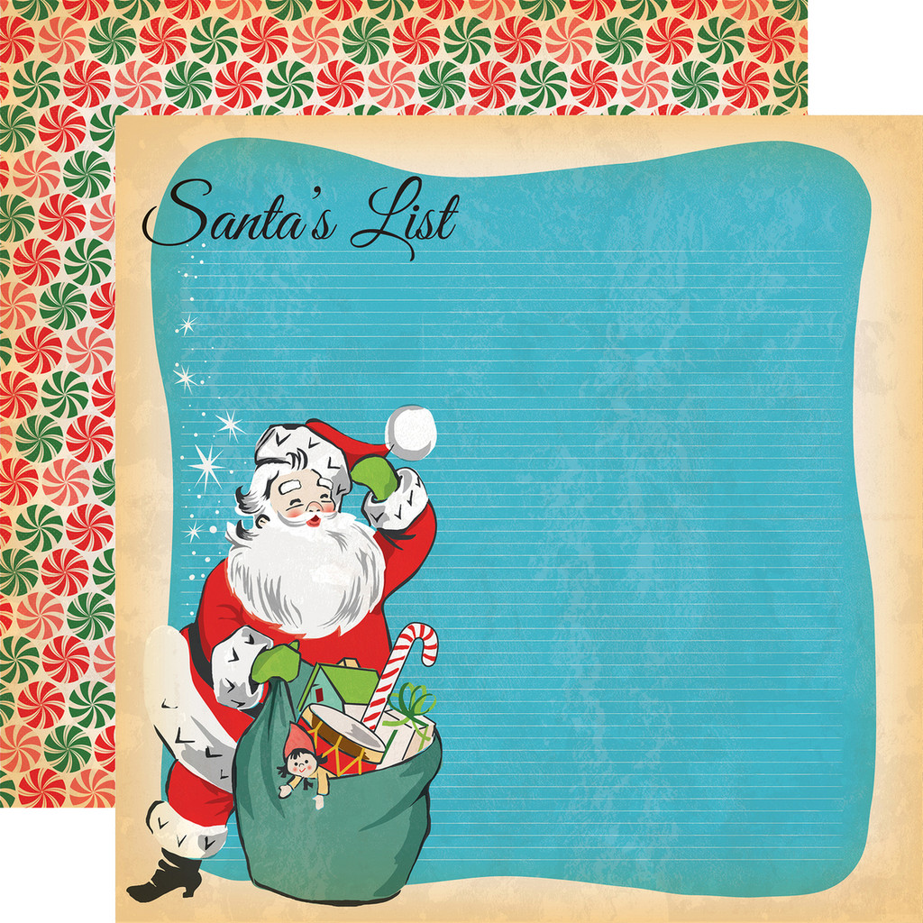 Carta Bella - A Very Merry Christmas 12x12 Cardstock - Santa's List (CBVMC72011)