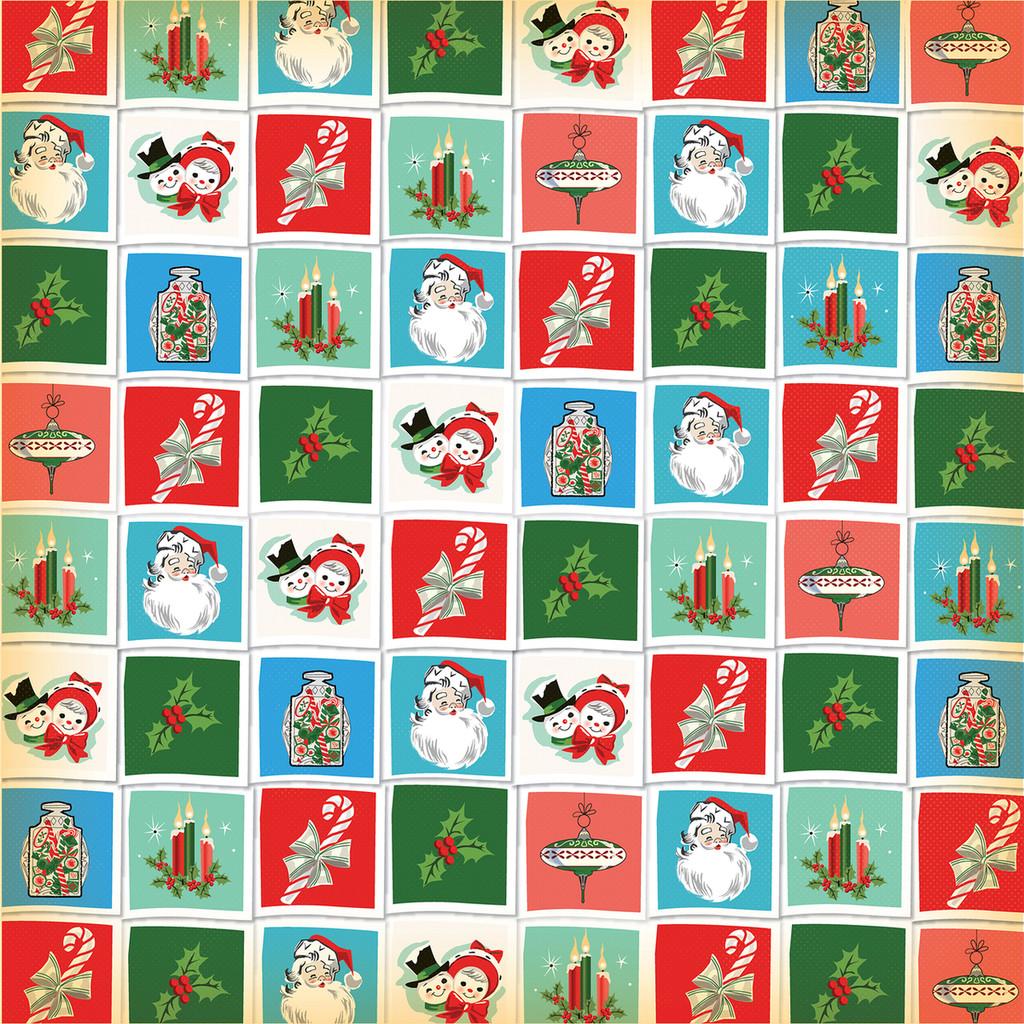 Carta Bella - A Very Merry Christmas 12x12 Cardstock - Christmastime Squares (CBVMC72012)