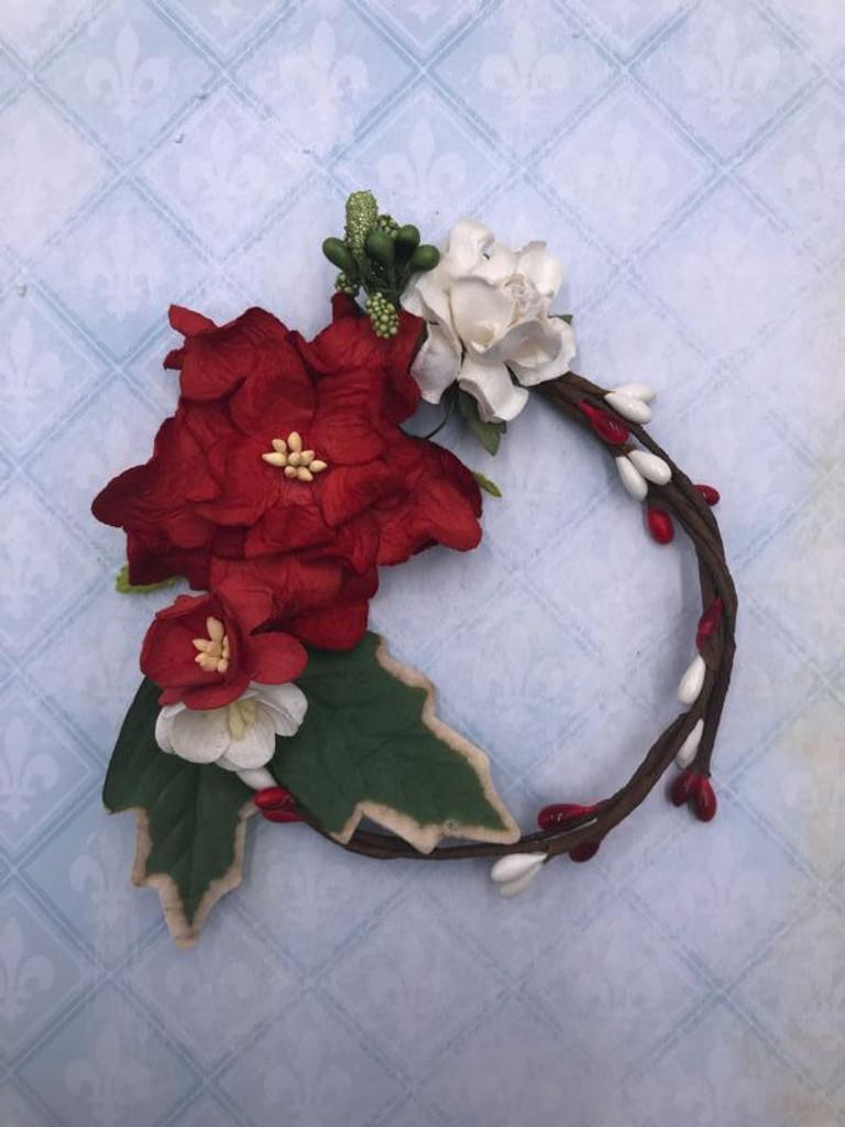 Blue Fern Blooms - Christmas Wreath (805585)