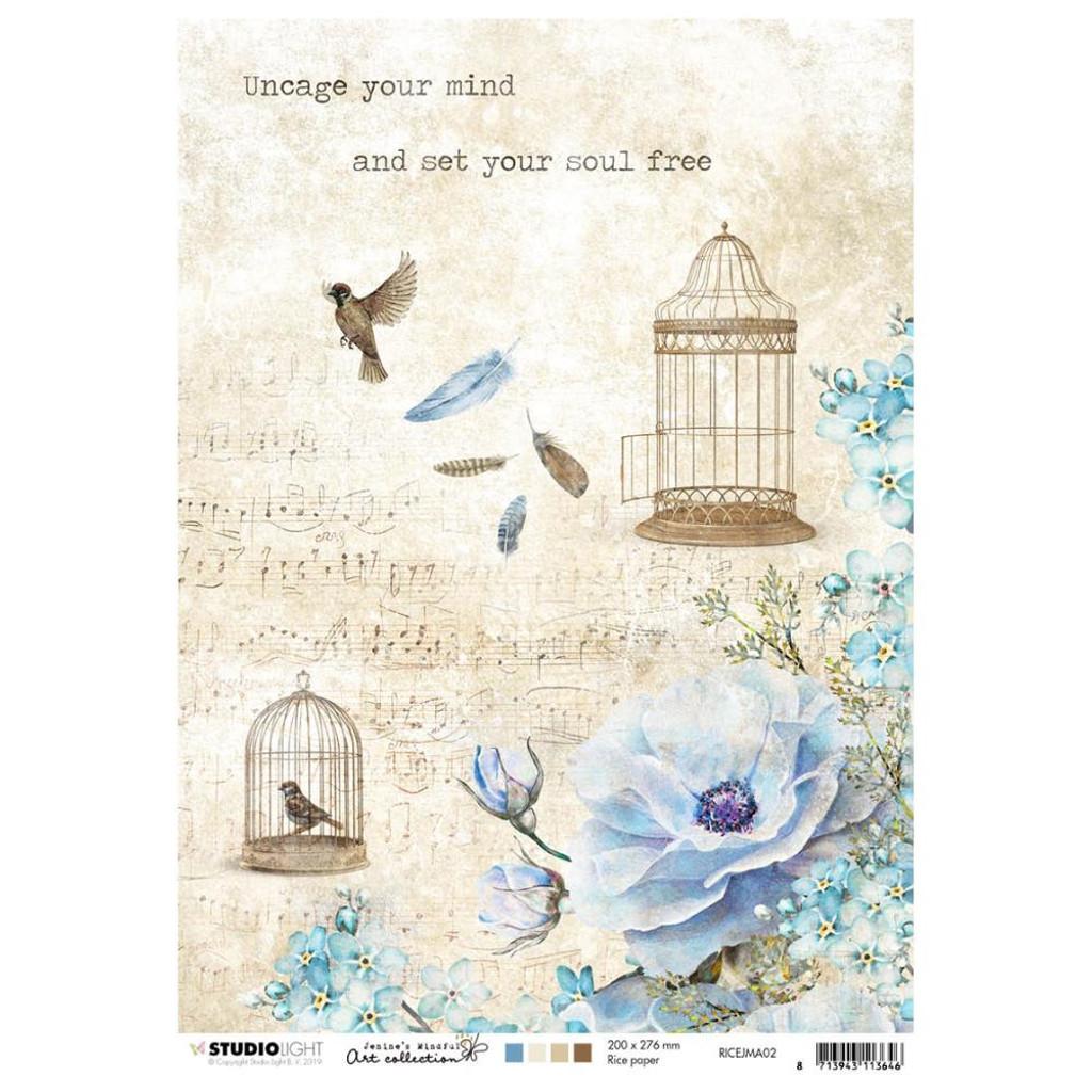 Studio Light Jenine's Mindful Art - Decoupage Rice Paper A4 - NR. 02 (RICEM02)