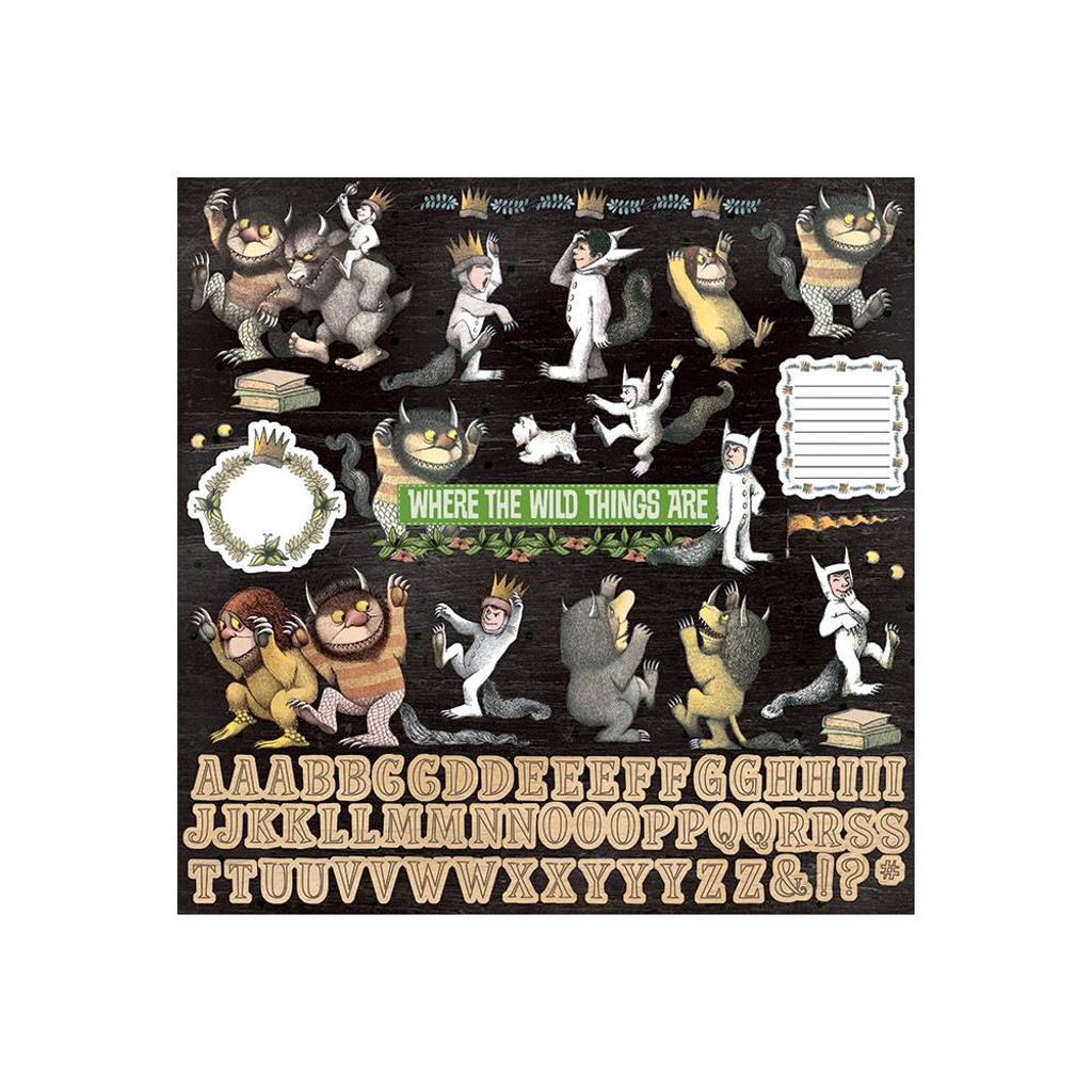 "Paper House - Cardstock Stickers 12""X12"" - Where The Wild Things Are (STCX1015)"