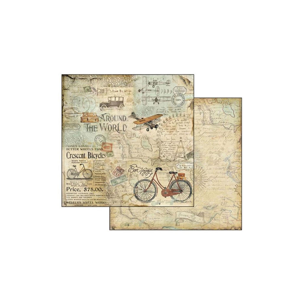 """Stamperia - Double-Sided Paper Pad 8""""X8"""" 10/Pkg - Around the World (SBBS12)"""