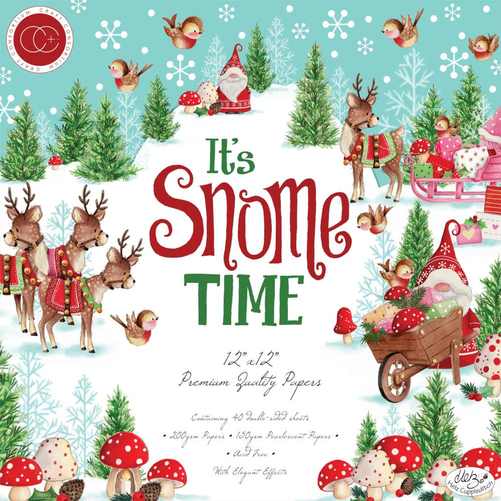 """Craft Consortium Helz Cuppleditch - Paper Pack (10 sheets) Double-Sided 12""""X12"""" Cardstock - It's Snome Time (CCHC-IST10PP)"""